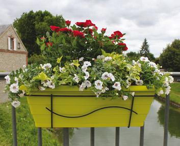 divertidos colores pop para las jardineras