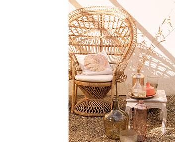 Verdeesvida muebles de exterior con un toque hippy chic for Muebles hippies