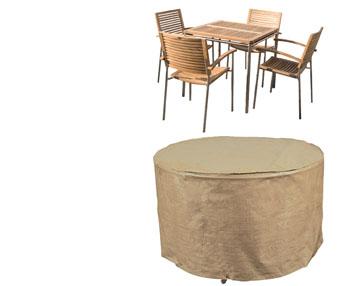 Verdeesvida fundas de color beis para los muebles de jard n for Fundas para mesas de jardin