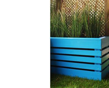 Verdeesvida jardineras de tablas de madera - Tiestos de madera ...