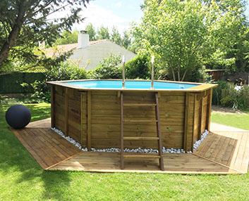 Verdeesvida piscinas de madera para instalar en - Piscinas de madera semienterradas ...